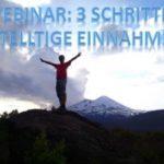 kostenloses Online Webinar - 3 Schritte - 4 stellige Einnahmen