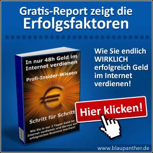 Gratis-Report Geld verdienen im Internet