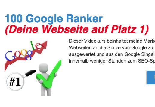 Mehr Besucher auf Platz 1 -200 Google Ranking Faktoren - 100 Google Ranker