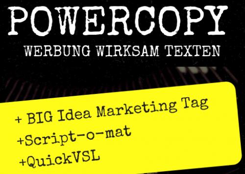 Werbetexten lernen - Powercopy - Werbung wirksam texten